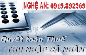 Dịch vụ quyết toán thuế thu nhập cá nhân tại Nghệ An