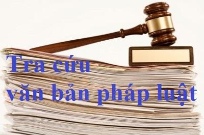 Tra cứu văn bản pháp luật