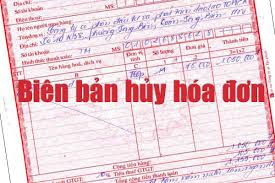 Thủ tục huỷ hoá đơn giá trị gia tăng tại Nghệ An
