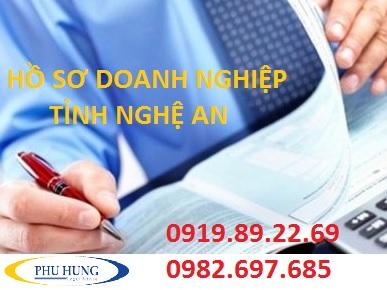 Hồ sơ đăng ký doanh nghiệp tỉnh nghệ an