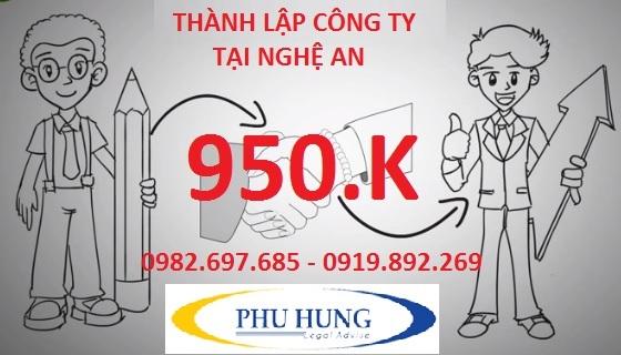 Thành lập công ty tại tỉnh nghệ an 950k