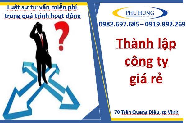 Thành lập công ty giá rẻ tại Nghệ An